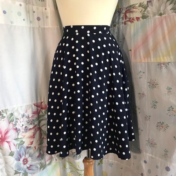 SHEIN Dresses & Skirts - Shein - Polka Dot Circle Skirt with Pockets
